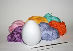 occorrente uovo crochet uncinetto pasqua